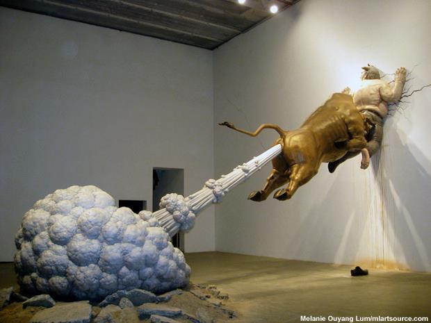 10 b Chen Wen Ling's sculptural representation of the financial crisis.