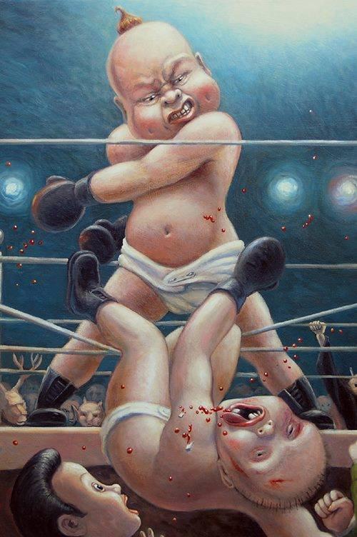 bébé boxeurs