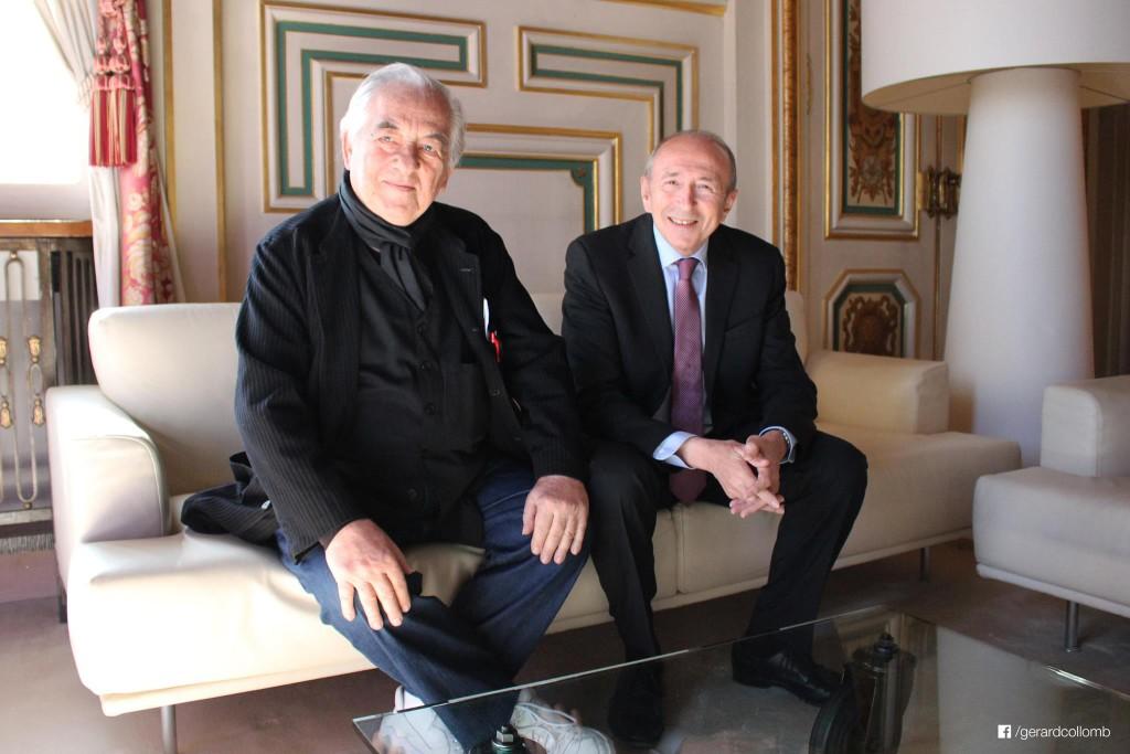 le ravageur de la place de l'Hôtel de ville, félicité par le maire de Lyon