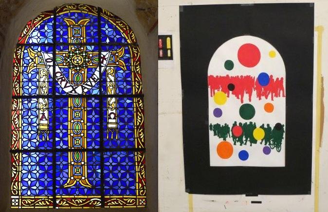 les vitraux de Fromanger