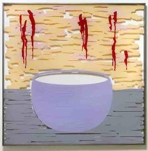 une peinture Bustamente qui figurait à son expo candidature pour l'entée à l'Académie