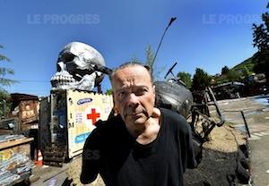 Thierry Herman en sa Maison du Chaos